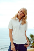 Blue Willis Damen Poloshirt weiß