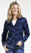 Blue Willis Damen Strickjacke Dunkelblau Reverskragen
