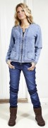 Blue Willis Damen Strickjacke Skyblue