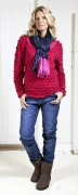 Blue Willis Damen Pullover pink