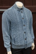Blue Willis Herren Strickjacke Iceblau