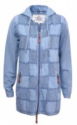 PIECE OF BLUE Damen Longjacke Patchwork