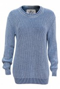 PIECE OF BLUE Damen Klassiker Pullover iceblau