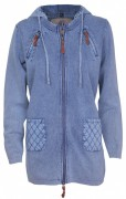 PIECE OF BLUE Damen Longjacke iceblau