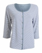 Blue Willis Damen Sweatjacke Streifen 3/4 Arm