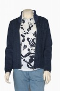 Blue Willis Damen Strickjacke dunkelblau