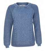 Piece of blue Damen Strickpullover iceblau