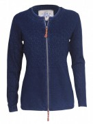 PIECE OF BLUE Damen Strickjacke indigo